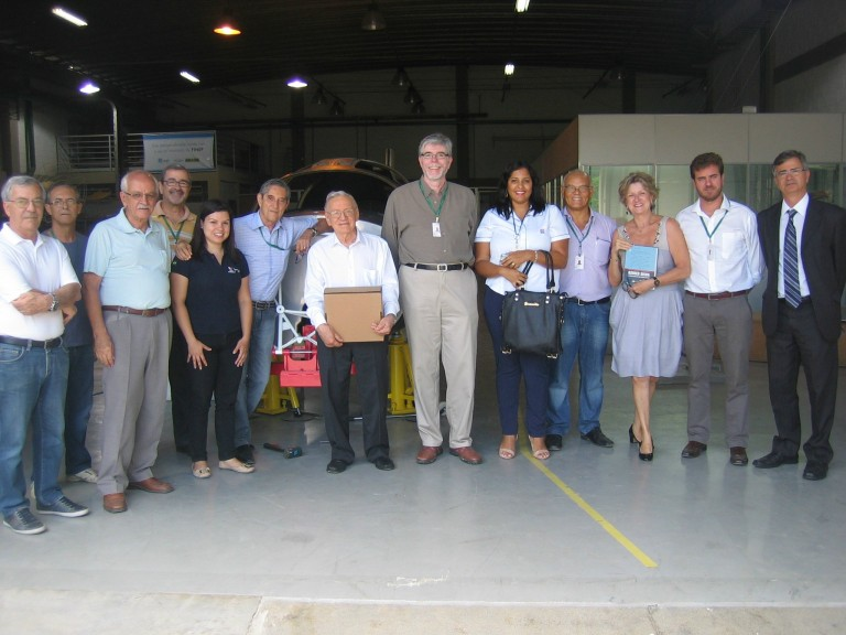 NOVAER receives the visit of Engineer Ozires Silva